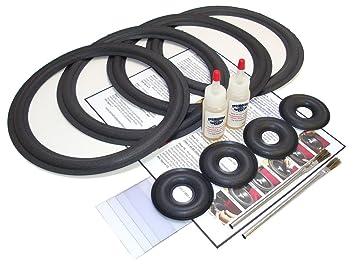 Complete KEF 107/2 Speaker Foam Repair Kit - incl  Donut