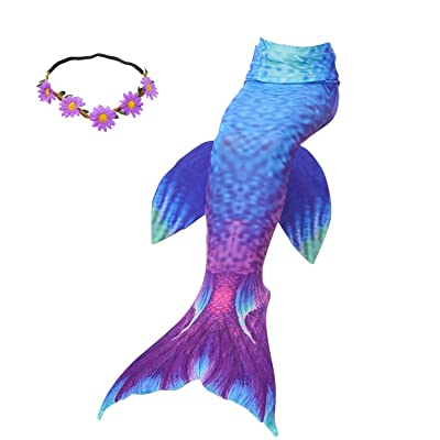 2XDEALS Mermaid Tail for Swimming Kids Girls Womens Adults Swimsuit Swimwear Without Monofin