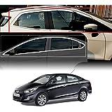 Auto Pearl Car Window Frame Exterior Garnish Trim for Hyundai Verna Fluidic