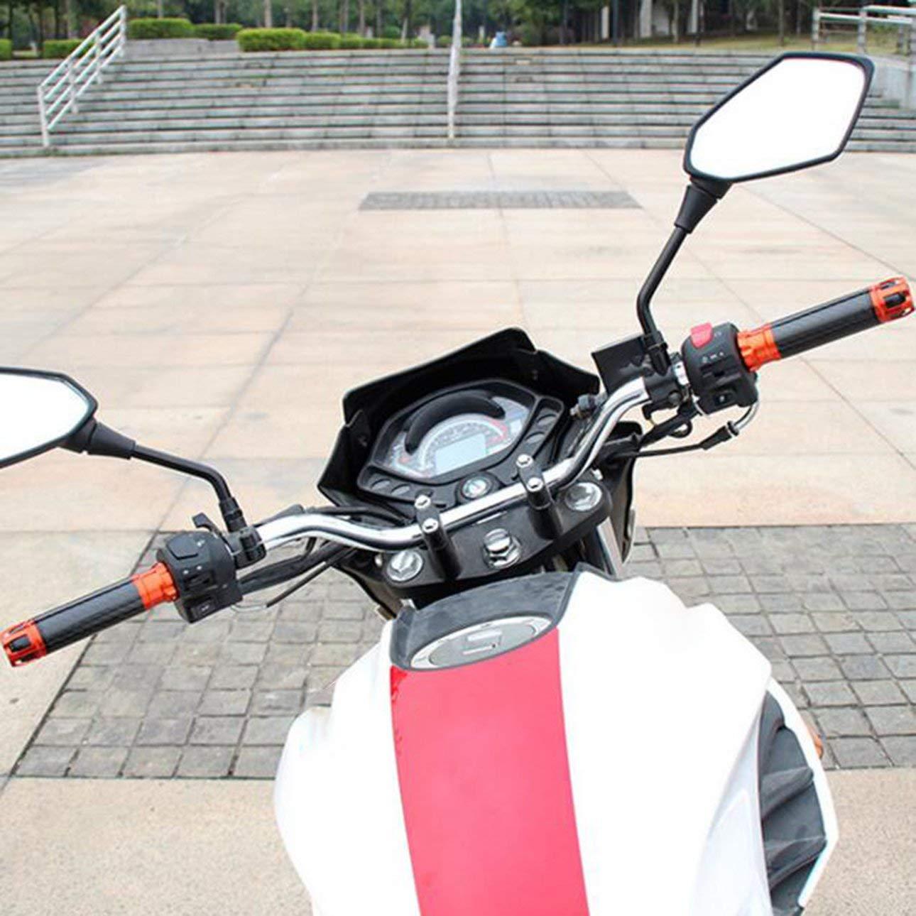 Pudincoco R/étroviseurs de Voiture R/étroviseurs de Moto R/étroviseurs convexes R/étroviseurs universels modifi/és HD Grand Angle