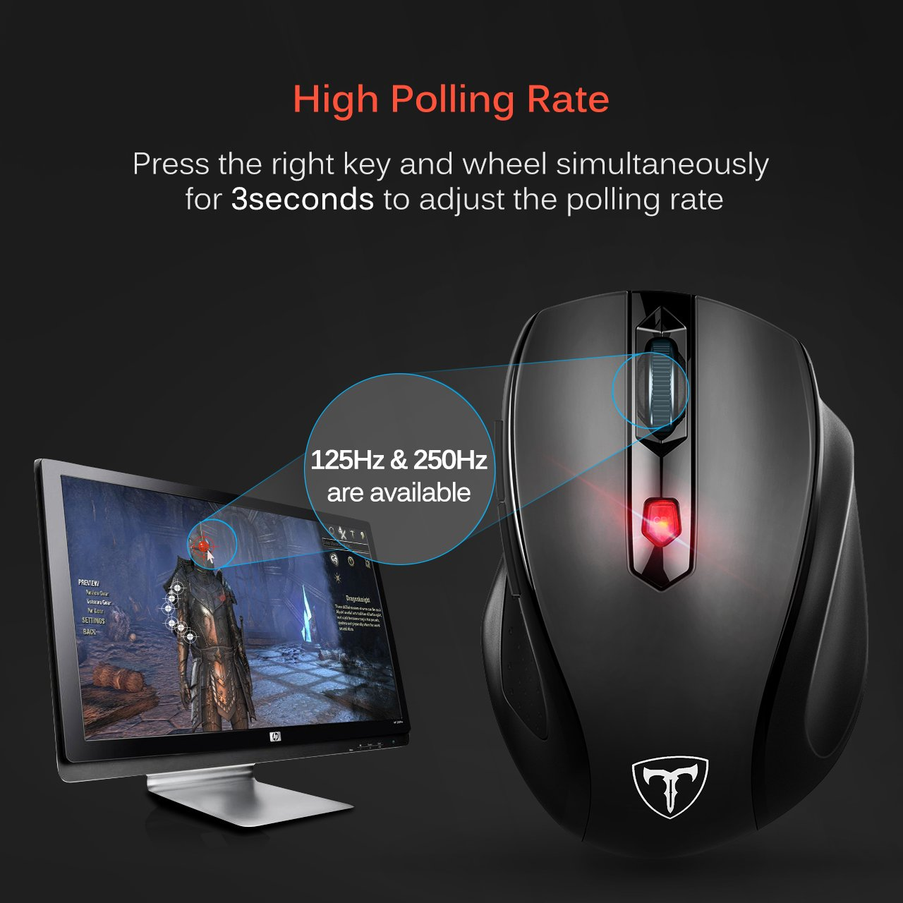 Victsing Mm057 24g Wireless Portable Mobile Mouse Optical Mice With Usb Computer Receiver 5 Adjustable Dpi Levels 6 Buttons For Notebook Pc Laptop