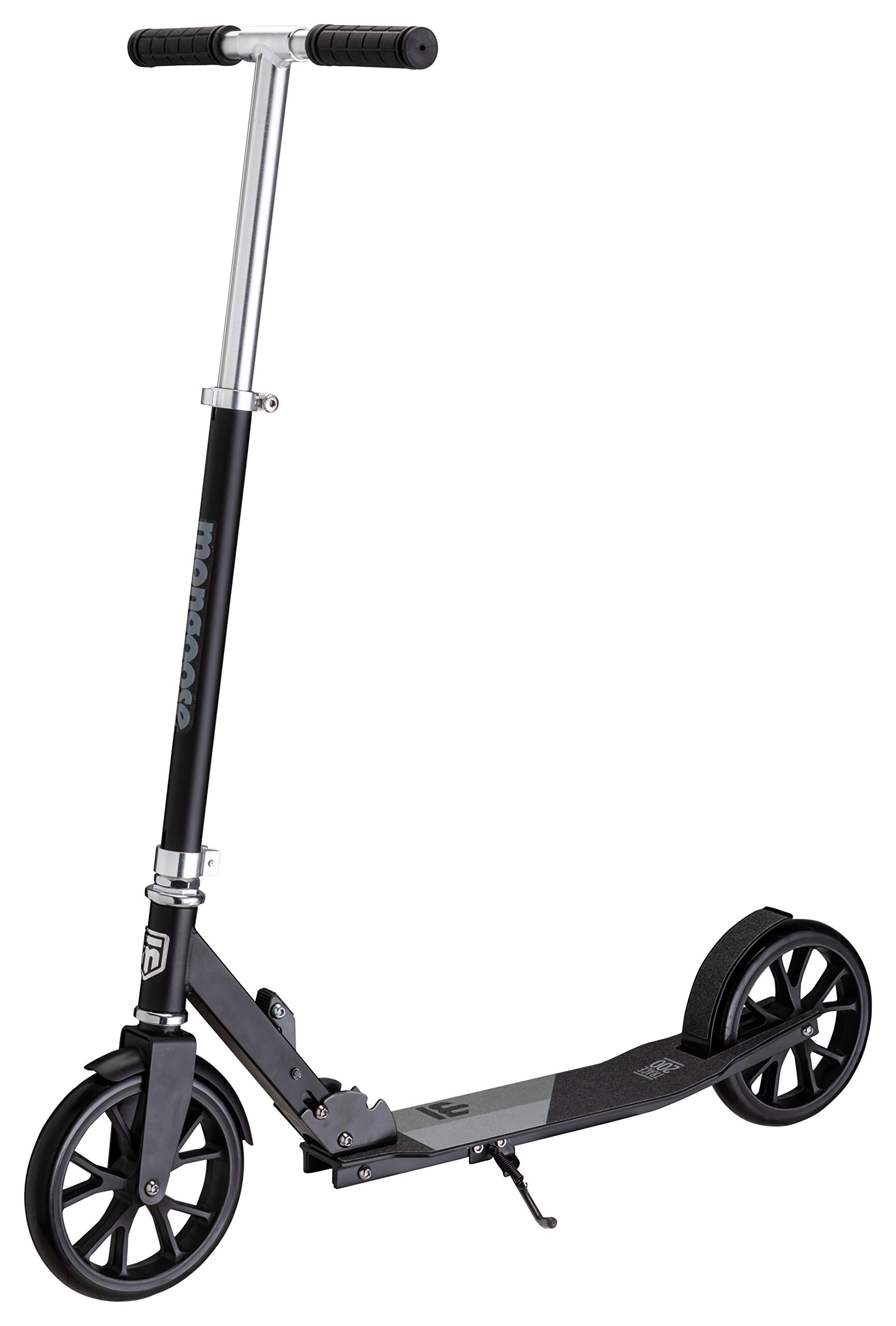 Mongoose Trace 200 Foldable Kick Scooter, Featuring Quick-Release Adjustable Height Handlebars with 205mm Wheels, Black/Grey