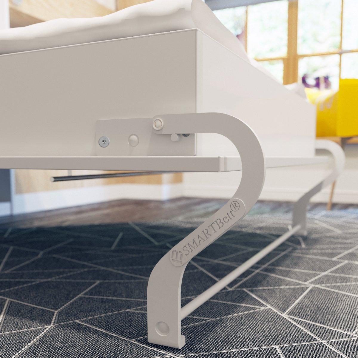 Schrankbett 120x200 cm Horizontal Weiß, ideal als Gästebett ...