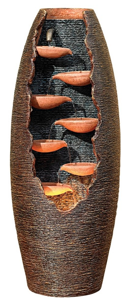 Seven Cascade Cut-Away Outdoor 35'' High Fountain by John Timberland