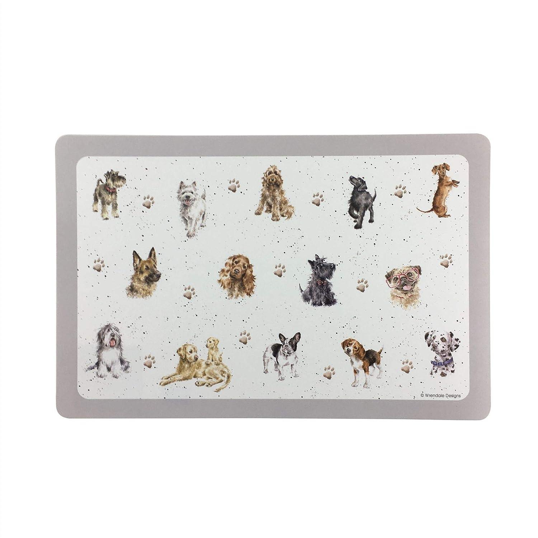 WRENDALE Dogs Plastic Indoor Outdoor Easy Clean PET PLACEMAT 43.5CM X 38CM