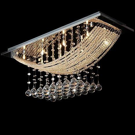 Lámpara de techo de cristal auténtico efecto gotas perlas de ...