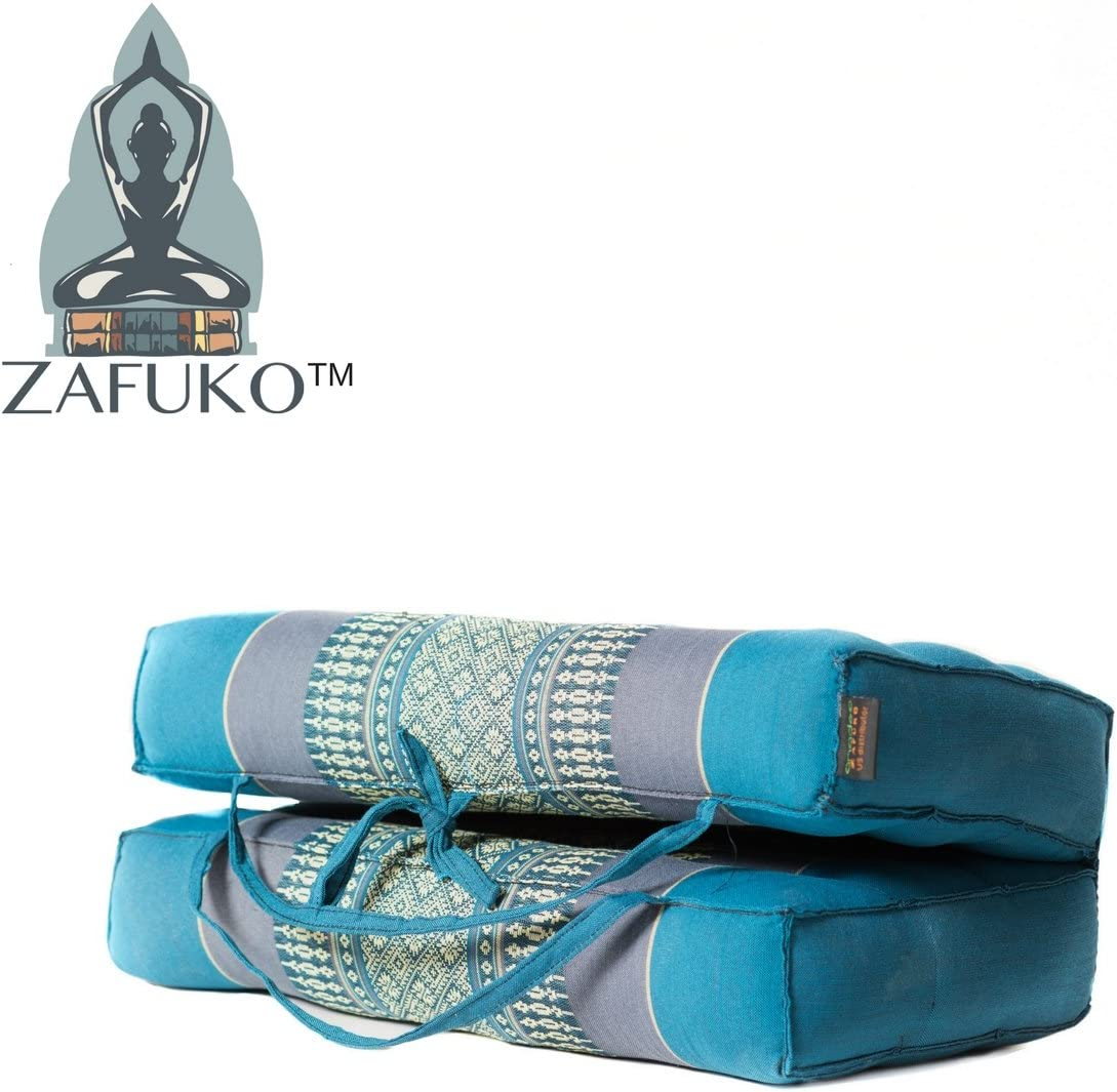 Zafuko Large Foldable Meditation and Yoga Cushion - Turquoise
