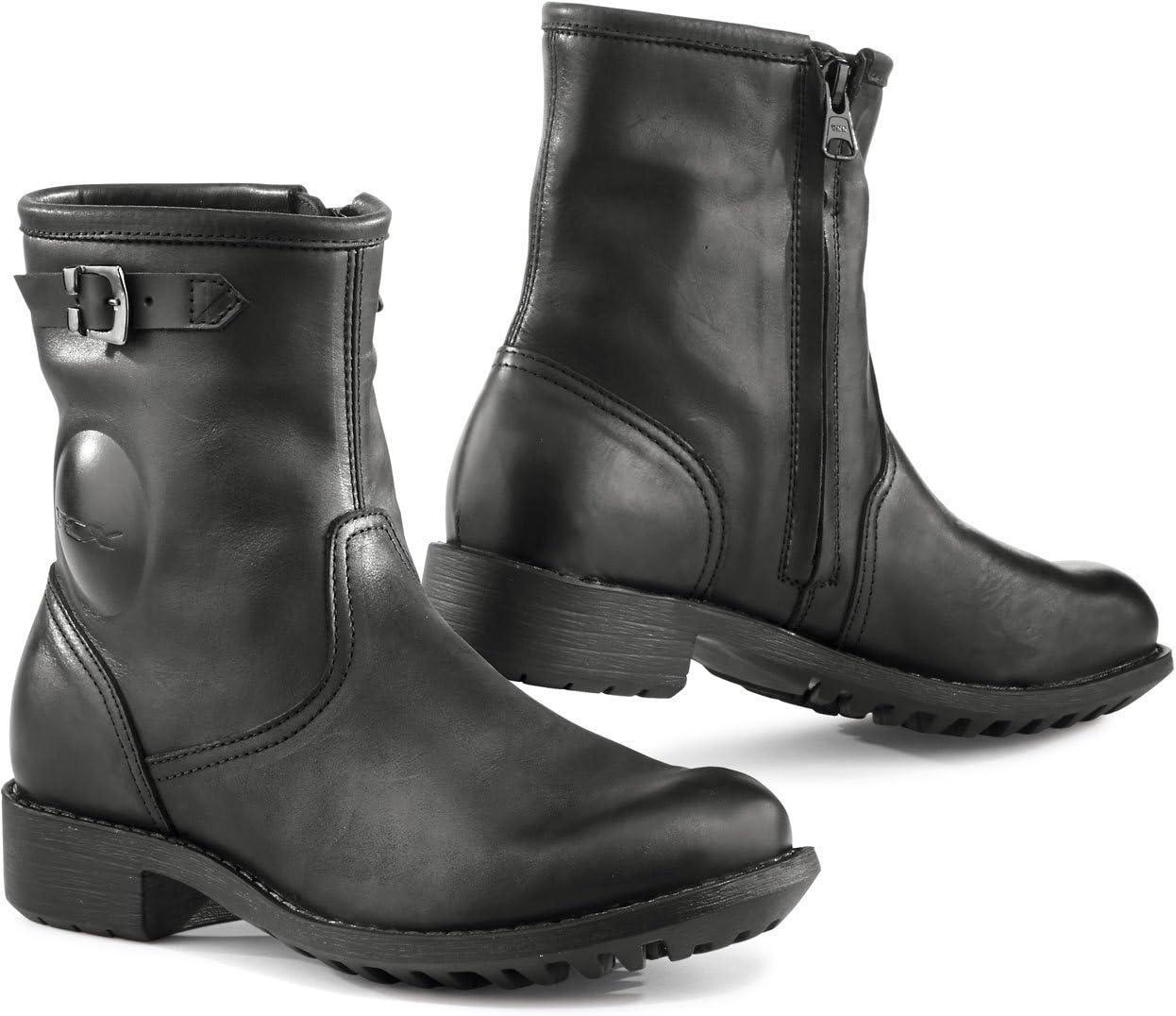 Size 38 Black TCX Lady Smoke Motorcycle Boots