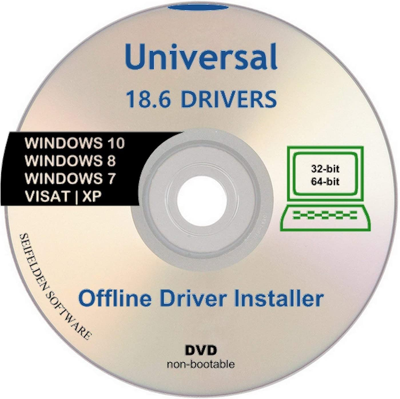 Universal Offline Driver Install Automatic Complete Device DVD Windows 10 7  XP 8 Vista Supports Sony Acer Asus Lenovo Compaq IBM eMachines HP Dell  Toshiba Gateway Safety Restore Point : Amazon.co.uk: Software