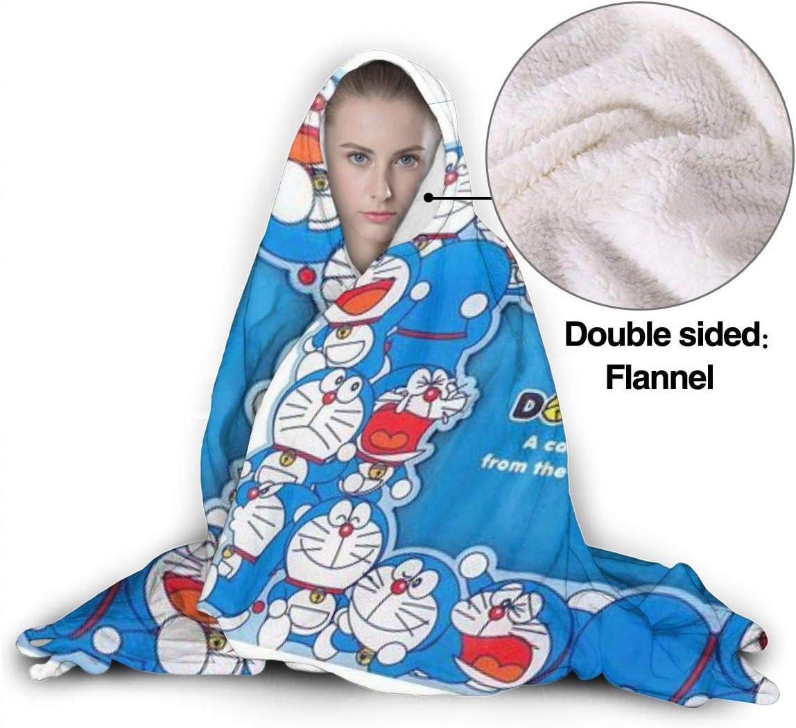 JINUNNU Hooded Blanket Doraemon Throw Wearable Cuddle Hooded Robe Blanket 50x40