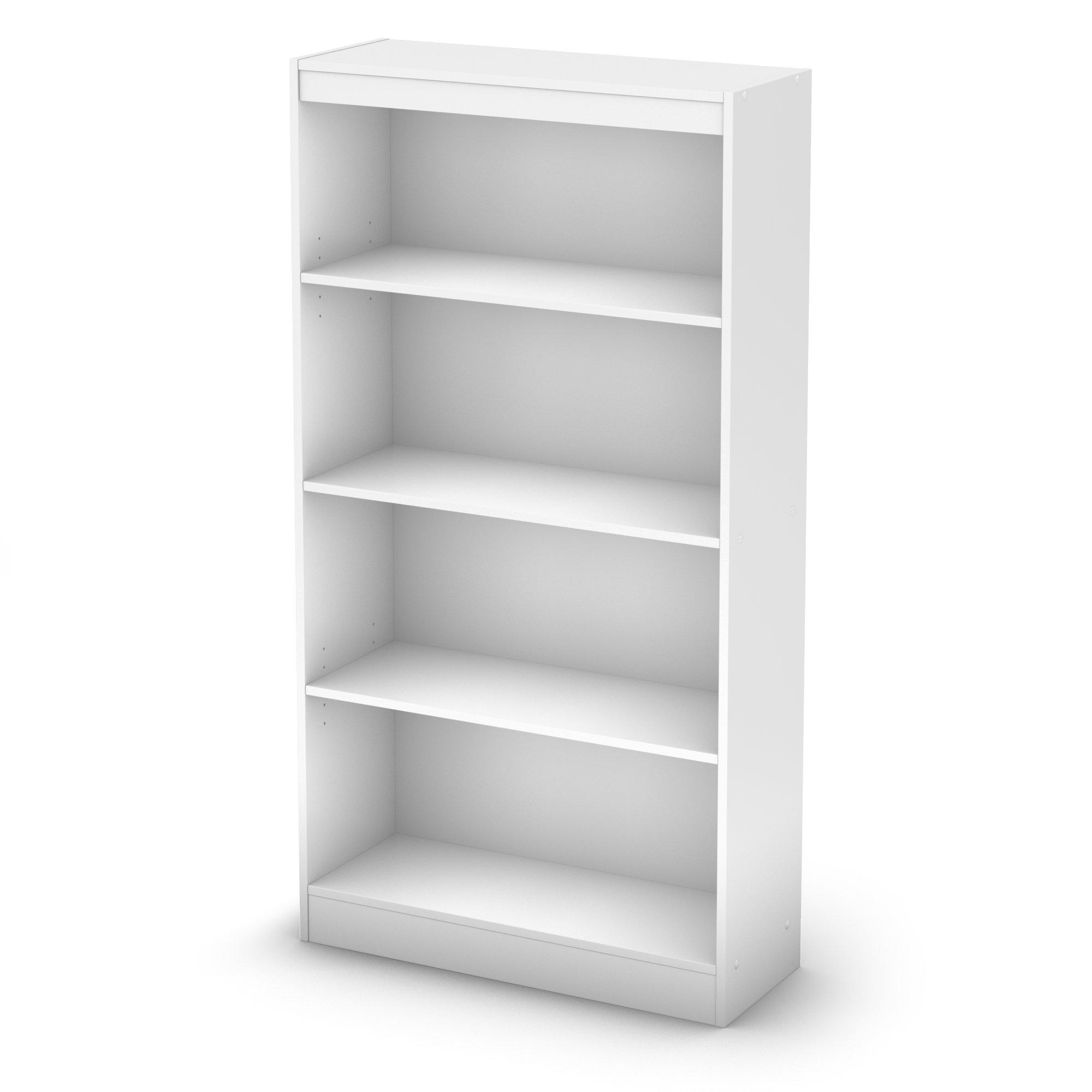 South Shore 4-Shelf Storage Bookcase, Pure White