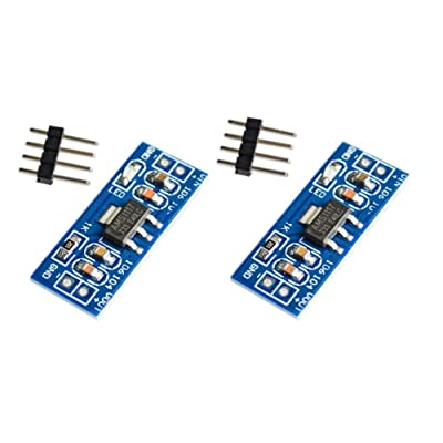 2X AMS1117-3.3V Fixed Voltage Regulator – Electronic Project Board Converts Input 4.5-7V to Output 3.3V – Unsoldered Pins for Project Flexibility, 2 Pieces: Industrial & Scientific