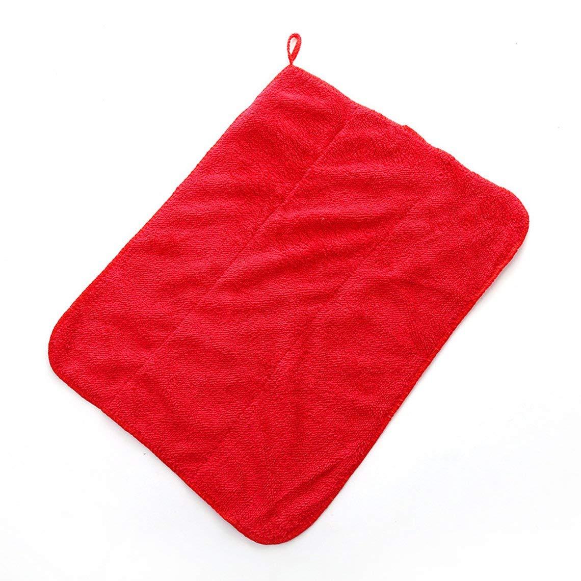 Momorain /Épais double couche corail velours chiffon absorbant non pelucheux tampon /à r/écurer chiffon dessuyage voiture chiffon de nettoyage pour cuisine