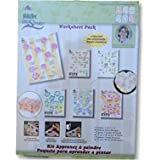 Donna Dewberry One Stroke Reusable Reversible Painting Teaching Guides Paint Worksheet Petal Flowers Miniature Shabby Chic Pa