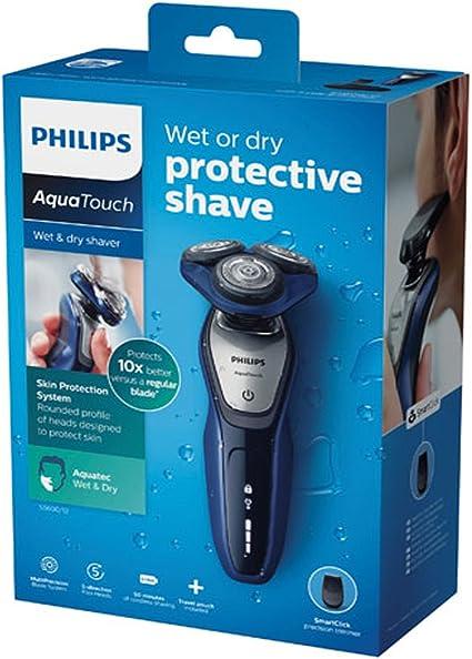 Philips Máquina de afeitar eléctrica seca 3 Cuchillas Azul: Amazon ...
