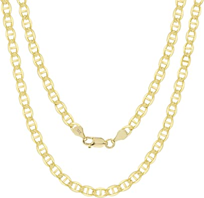 """14k Solid Yellow Gold 1.5 MM 18/"""" Anchor Mariner Link Chain Necklace Unisex"""