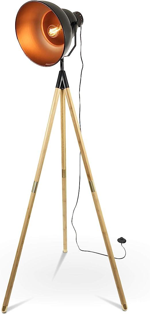 Stehlampe Tripod Lampe Stehleuchte Urban Design Scheinwerfer mit Dreifuß