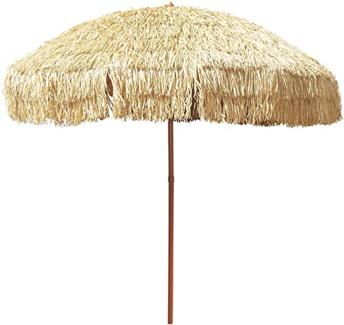 Large 8 Hula Patio Beach Umbrella Bag Hawaiian Tiki Canopy Outdoor Decor