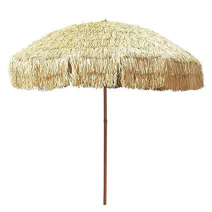 Large 8 Hula Patio Beach Umbrella U0026 Bag Hawaiian Tiki Canopy Outdoor Decor