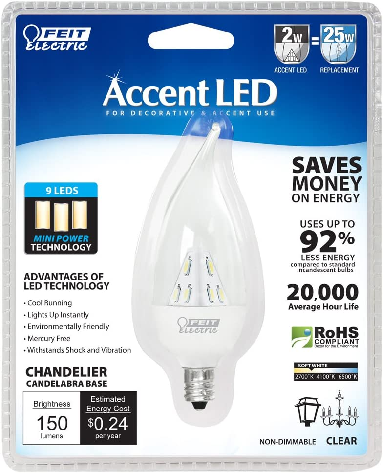 Clear Feit Electric BPCFC//LED//RP Accent LED Chandelier