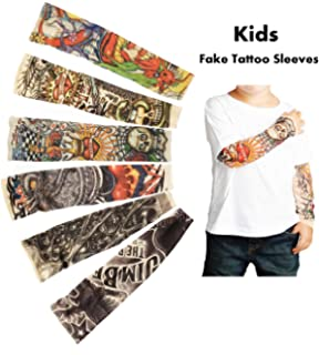 Qualified 20pcs Tattoo Sleeve Anti-sunshine Fashion Men And Women Tattoo Arm Leg Sleeves High Elastic Nylon Halloween Party Dance Party Apparel Accessories