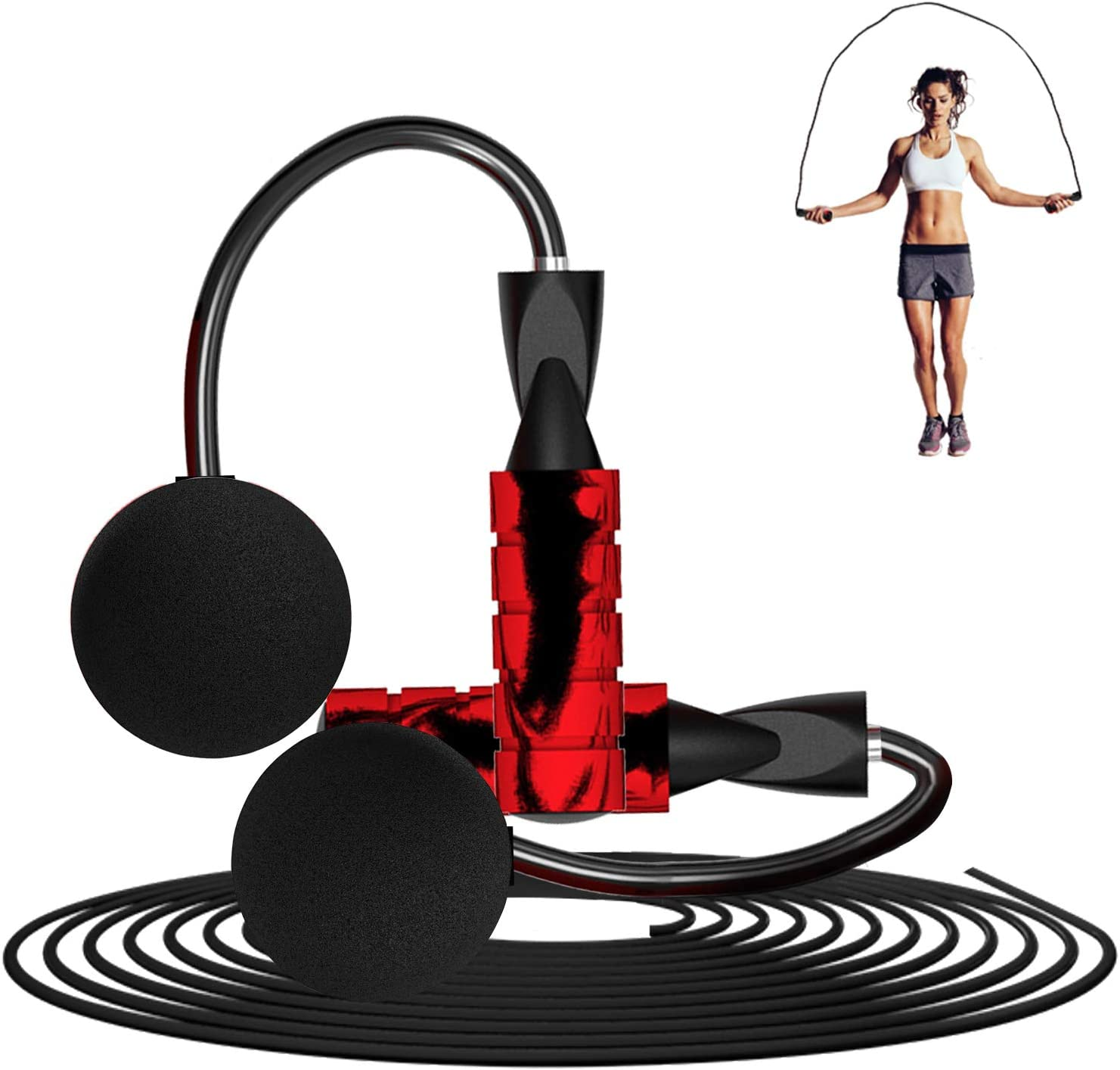 LETUSPORT Weighted Cordless Ropeless Jump Rope Work Out Skipping Rope Weight 8.1 OZ