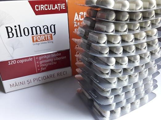 Amazon.com: Bilomag Forte Circulation, 120 capsules, Enriched (90 capsules + 30 capsules): Health & Personal Care