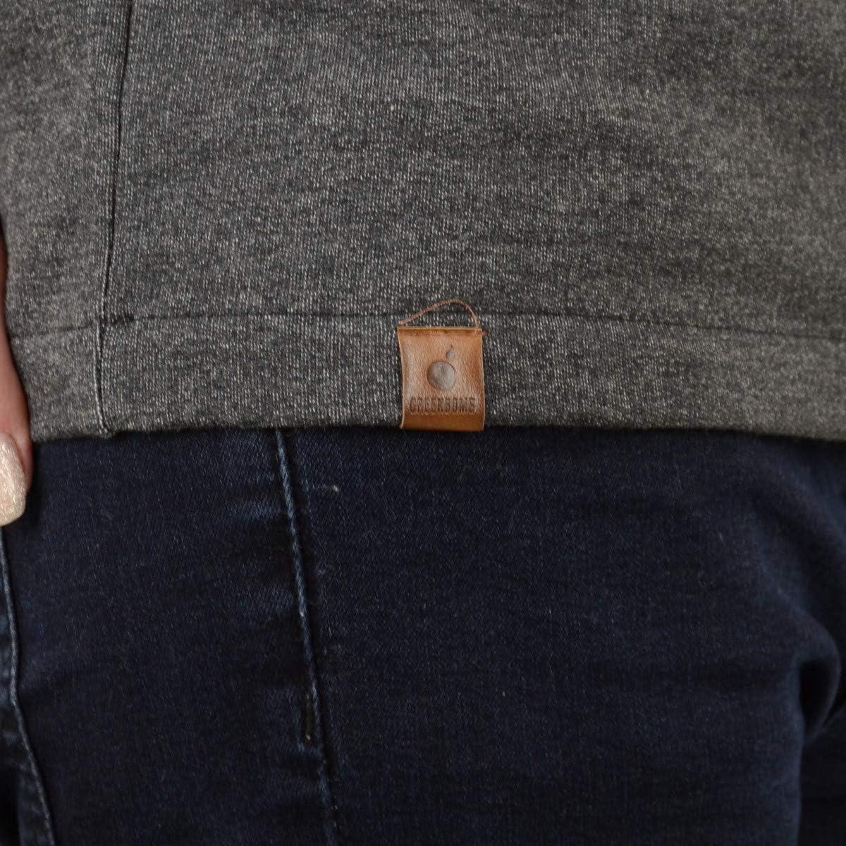 Greenbomb Frauen Kapuzensweater Animal Swallows Air anthrazit Dunkelgrau Meliert
