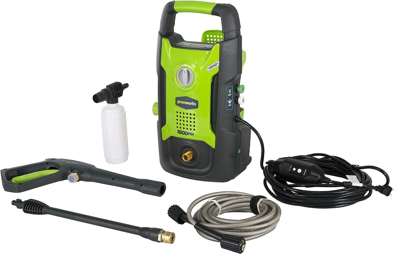 GreenWorks 1600 PSI 13 Amp 1.2 GPM Pressure Washer GPW1602 : Garden & Outdoor