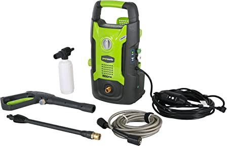 Greenworks GPW1602 is a compact and lightweight pressure washer machine perfect for cleaning cars and wooden decks