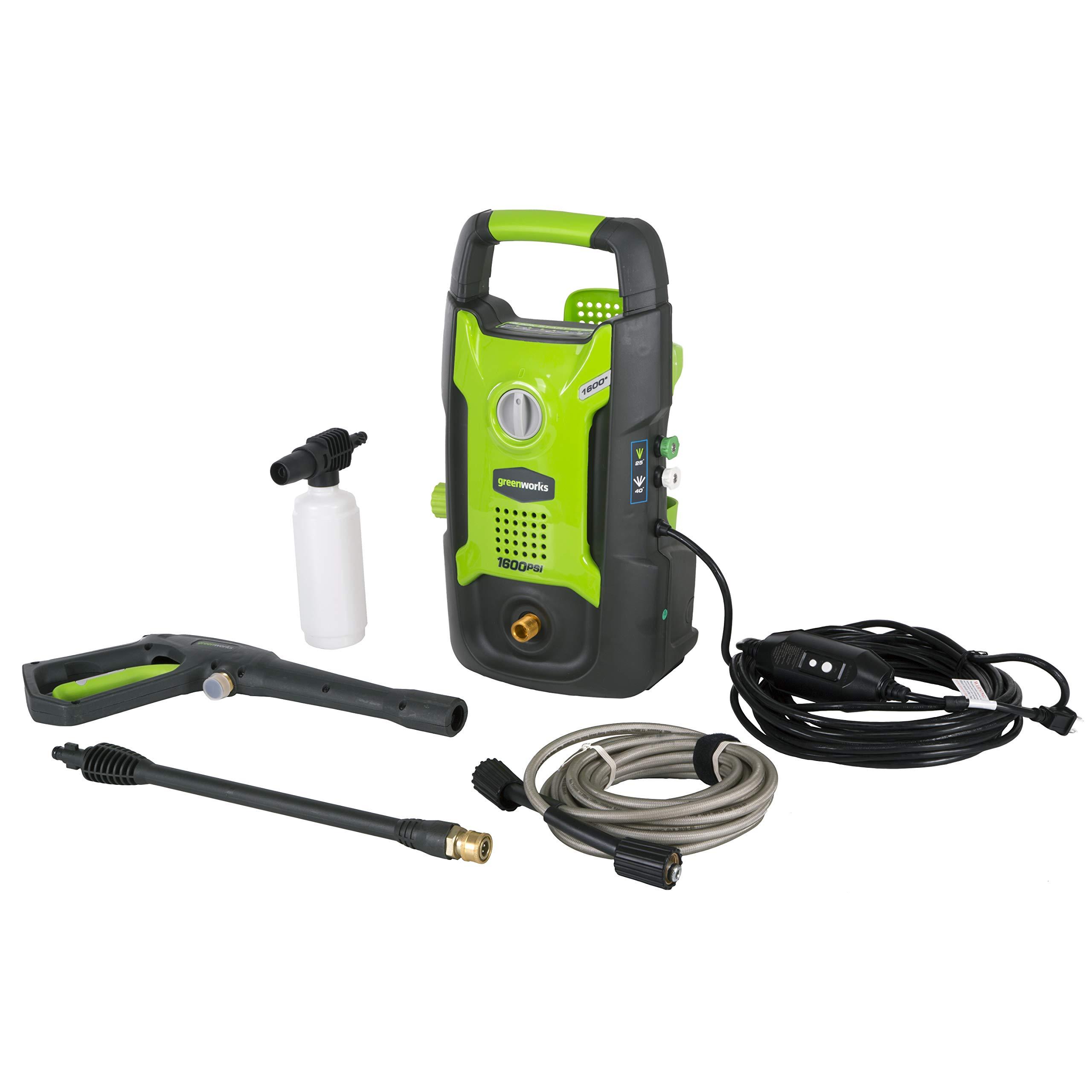 Greenworks 1600 PSI 13 Amp 1.2 GPM Pressure Washer GPW1602 by Greenworks