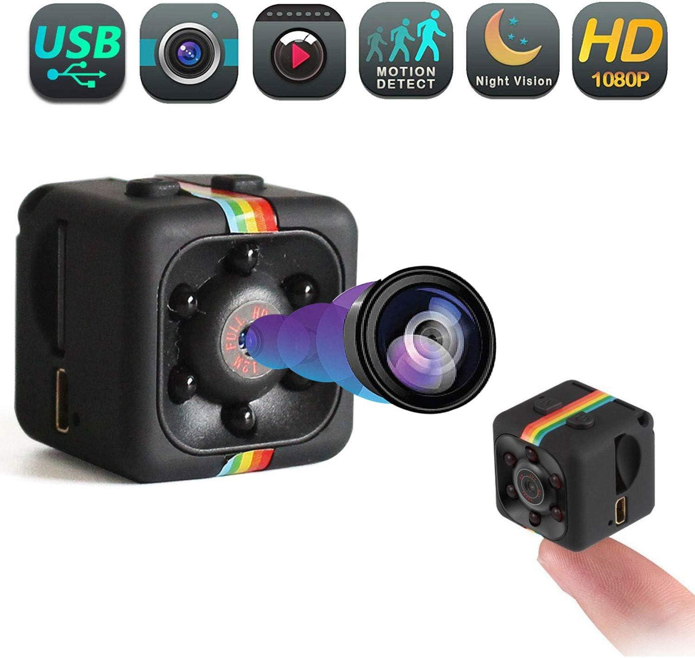 Mini Spy Hidden Camera – Portable Small Wireless Camera, Motion Detection USB Surveillance Cam, Nanny Cameras and Hidden Cameras, 1080p HD Recording IR Night Vision Monitoring Camera – Mini Spy Camera