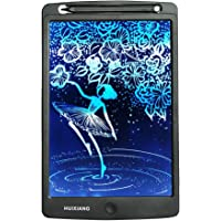 LCD Writing Tablet 10 Inch Color HUIXIANG Electronic Drawing Board Digital Rewritten Drawing Pad Multi Colour Durable Handwriting Toy Christmas Gift for Kids Boy Girl Presents for Students (Black)