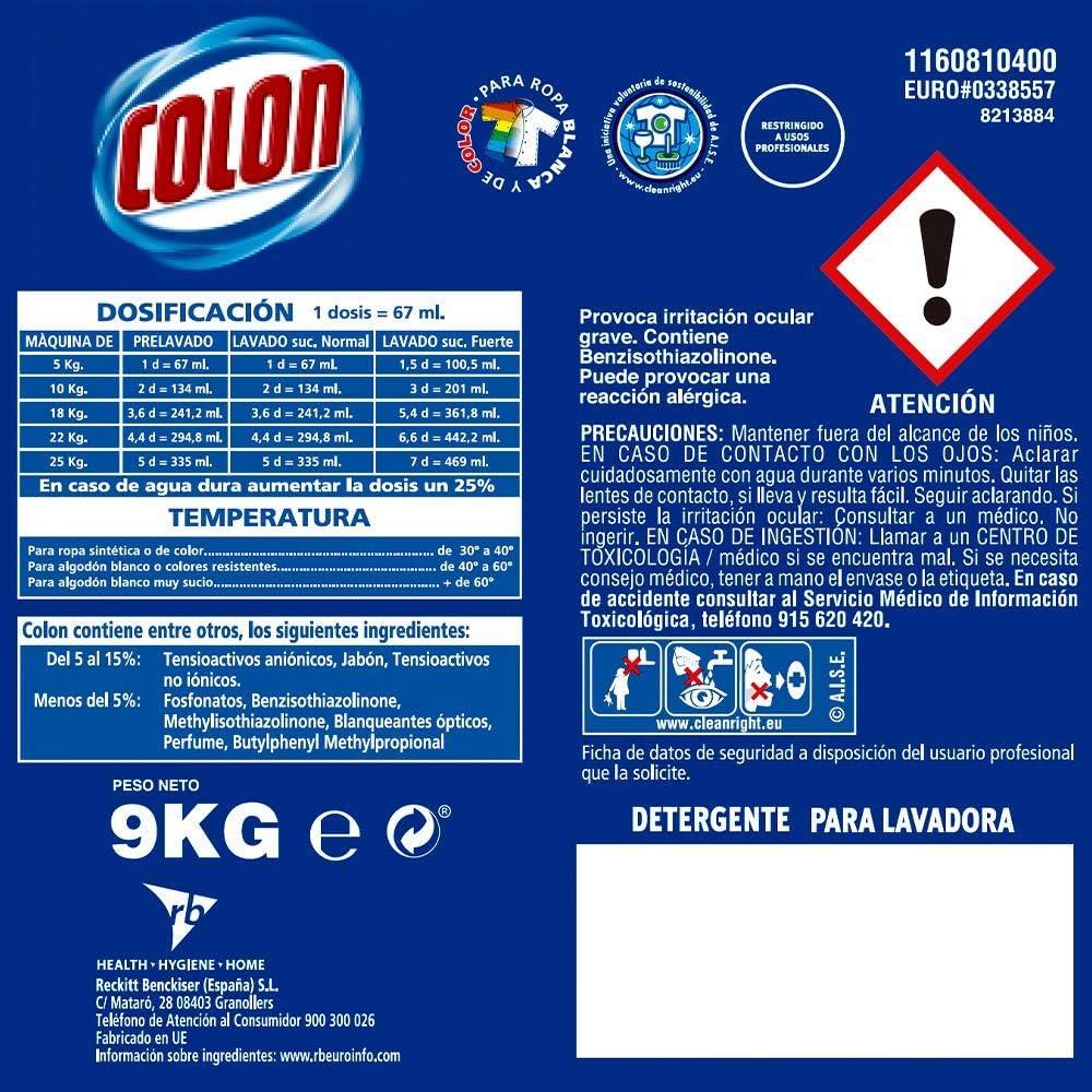 Colon - Detergente para lavadora profesional, adecuado para ropa ...