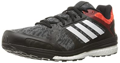 adidas Originals Men's Supernova Sequence 9 M Running Shoe,  Black/White/Bold Orange