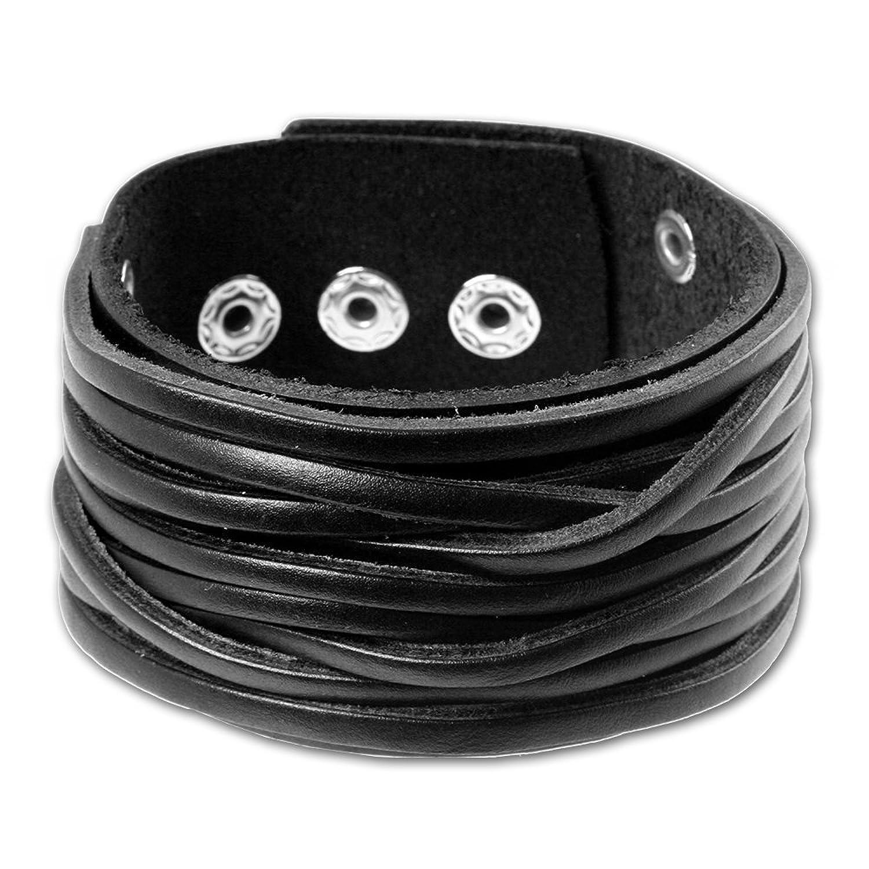 Lederarmband breit  SilberDream Lederarmband schwarz Herren Leder Armband Echtleder ...