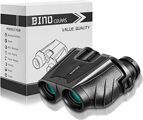 12x25 Binoculars for Adults, Compact and Clear Weak Light Vision, Large Eyepiece for Adults Kids with BAK4 FMC Lens, High Power Easy Focus for Bird Watching,Outdoor Hunting,Travel,Sightseeing