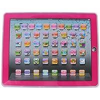 Fdit Tableta Electrónica de Aprendizaje Pad Educativo para Bebés Actividades de Aprendizaje de Letras, Palabras, Números o Niños Pequeños, Solo Ingles Juguetes para Niños(Rosado)
