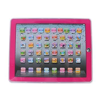 Fdit Tableta Electrónica de Aprendizaje Pad Educativo para Bebés Actividades de Aprendizaje de Letras, Palabras, Números o Niños Pequeños(Rosa): Amazon.es: ...