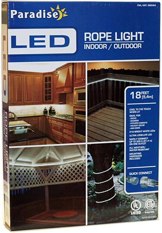 Paradise Led Rope Light 18 Feet Indoor Outdoor