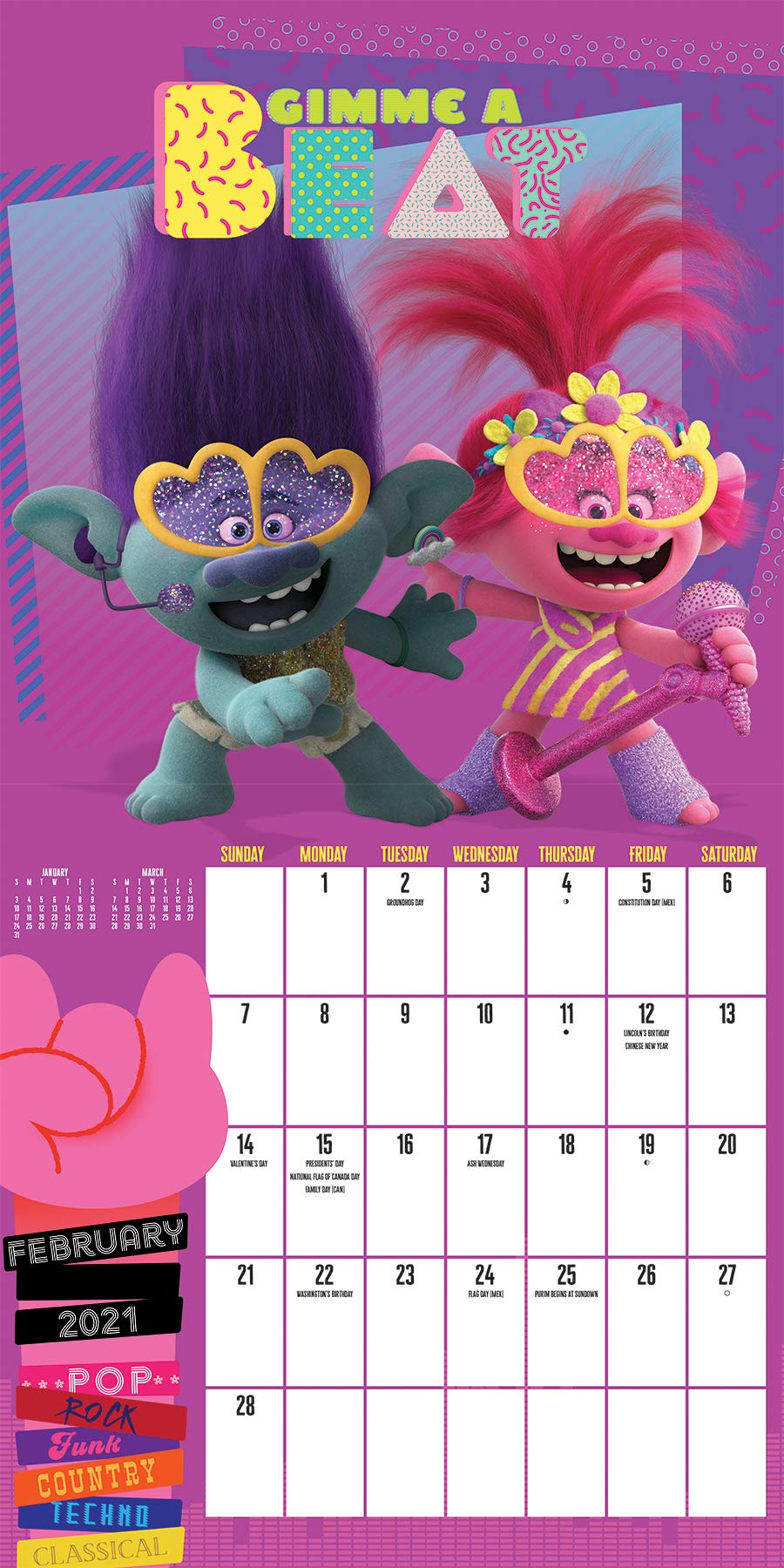 Trolls World Tour Calendar: Amazon.co.uk: Trends International LLC