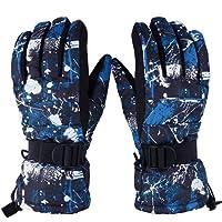 Vbiger Waterproof Ski Gloves Cold Weather Gloves Mens Thermal Gloves for Winter Sports