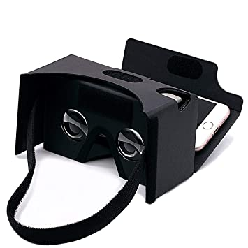Google Cardboard 3d Virtual Reality Headset Glasses Diy Vr Cardboard Compatible With 3 6inch Screen Android And Iphone Smartphone Black