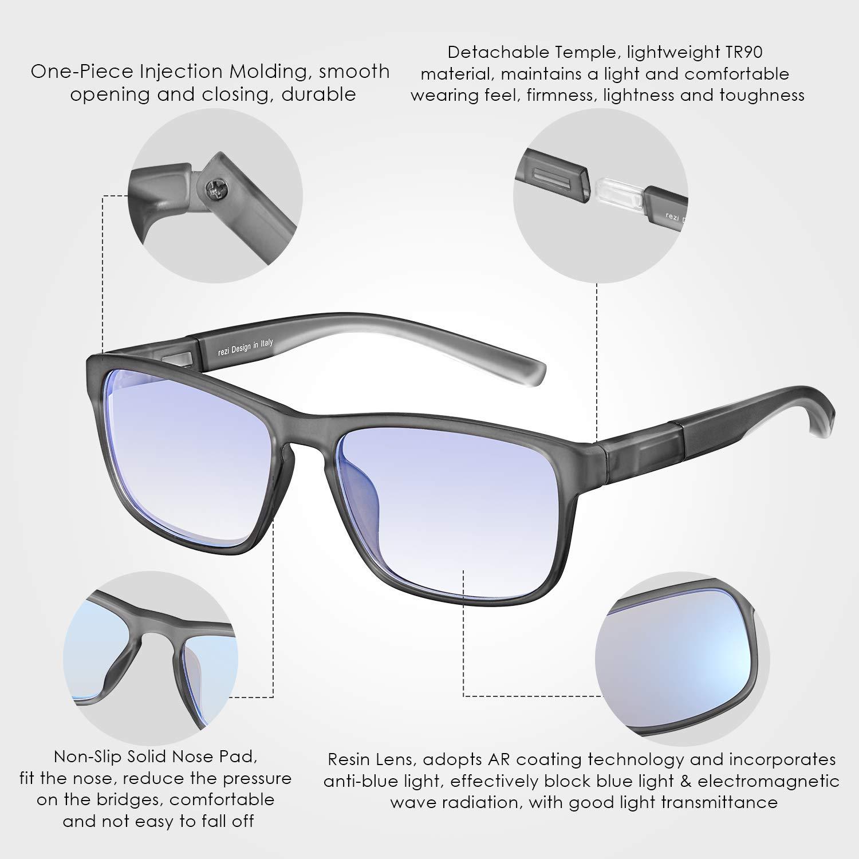 Occhiali da Lettura Uomo Donna con Telaio Ultraleggero e Lente ad Alta Definizione Protezione UV400-Luce anti Blu Abbagliamento Affaticamento Degli Occhi rezi Occhiali da Lettura