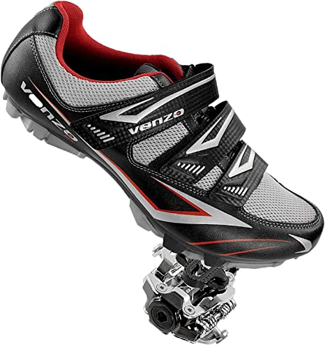 Venzo Mountain Bicicleta para Hombre Shimano SPD Zapatos + Pedales ...