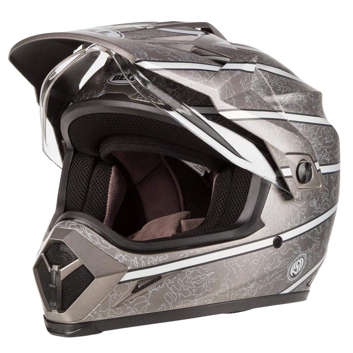 BELL MX 9 ADVENTURE MIPS RSD SILVER DUAL SPORT MOTORCYCLE MOTORBIKE BIKE HELMET