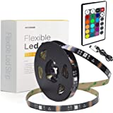 WENICE LED Light Strip 18ft for TV 65 to 82inch,tv Backlight Strip 5.5m with 24key IR Remote Multi Color-The Longest