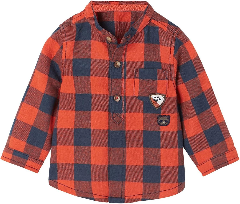 VERTBAUDET Camisa a Cuadros y Cuello Mao para bebé niño Cuadros Naranja 3M: Amazon.es: Ropa y accesorios