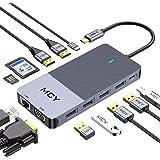 Docking Station, MCY 12 in 1 Triple Display Laptop USB C Docking Station Dual Monitor USB Type C Hub with Dual HDMI VGA Adapt