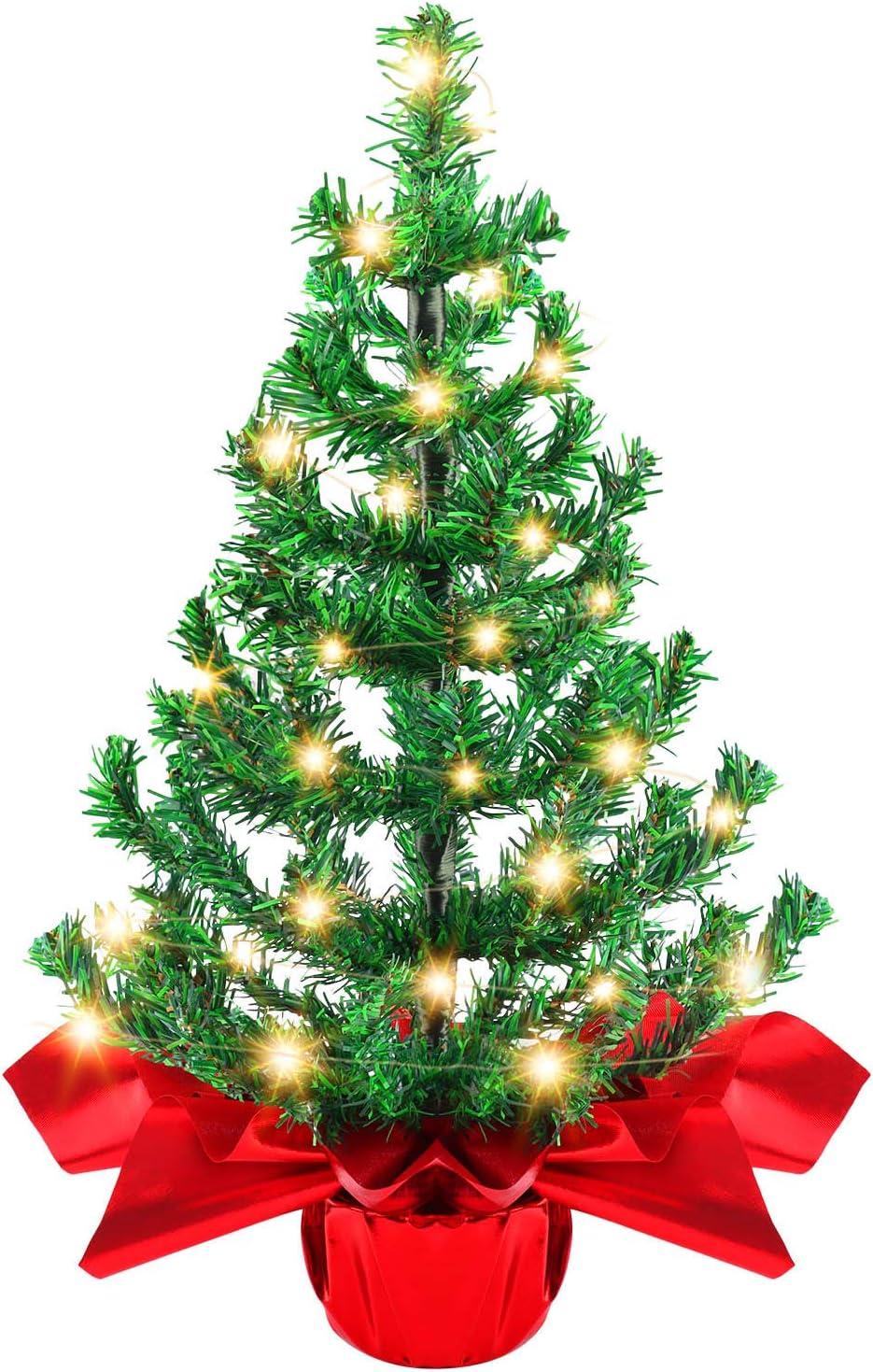 Becoyou Petit Sapin de Noel 60cm Mini Sapin de Noel Petit Sapin de Noel Artificiel Sapin de Noel Artificiel Petit Mini Sapin Decoration Noel Table